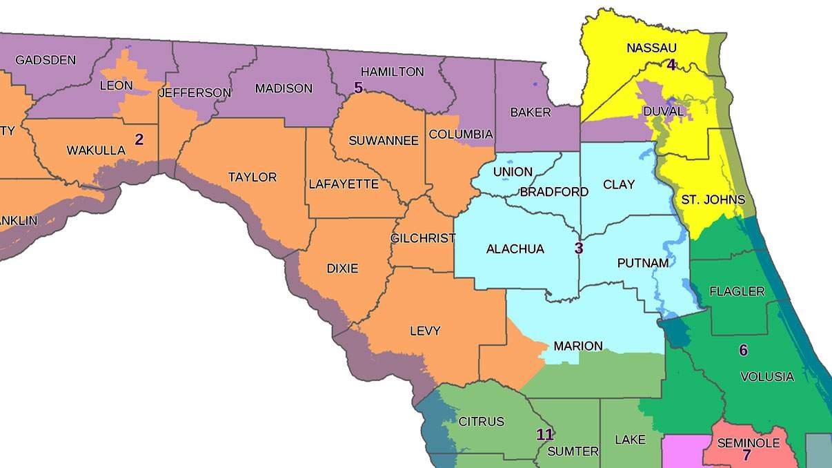 Florida 6th Congressional District Map Florida's 6th Congressional District