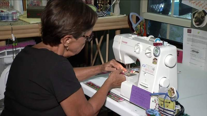 Jacksonville resident sews thousands of masks for people across the country