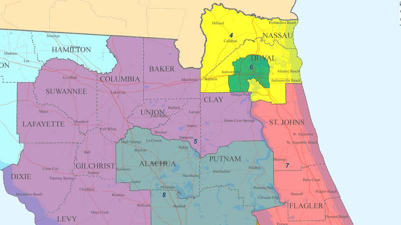 Five Florida Senate districts cover all of Northeast Florida