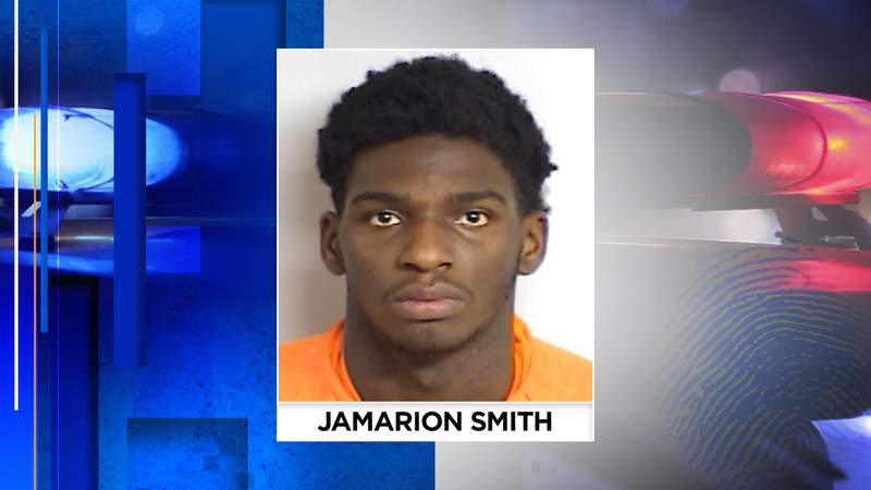 Jamarion Smith, 18, tried to run over an officer and led police on a short chase Saturday night, according to Starke PD.