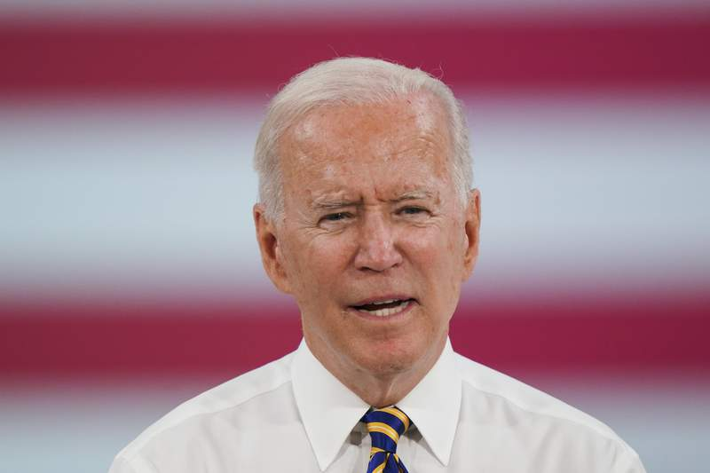 President Joe Biden speaks during a sojourn  to the Lehigh Valley operations installation  for Mack Trucks successful  Macungie, Pa., Wednesday, July 28, 2021. (AP Photo/Matt Rourke)