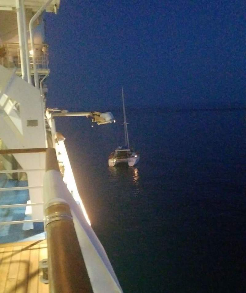 Carnival Legend delivered 25 gallons of diesel fuel so that the boat could make its way back to Jacksonville.