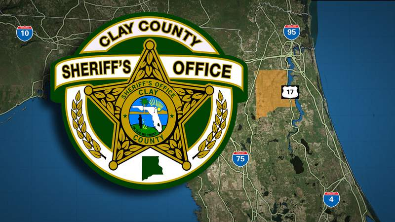Clay County Sheriff's Office logo on Florida map