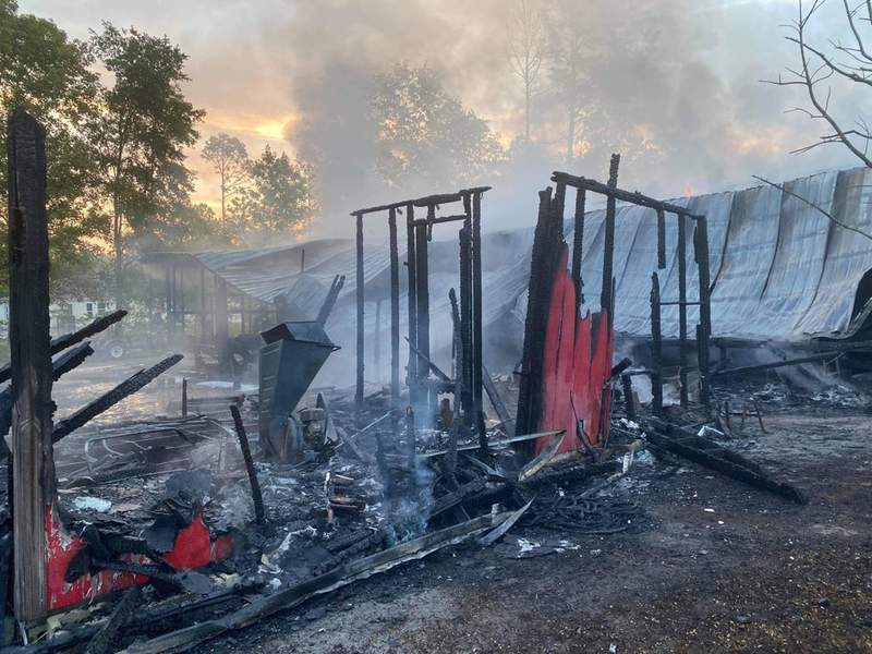 Crews battled a mobile home fire Sunday in the Clay Hill area.