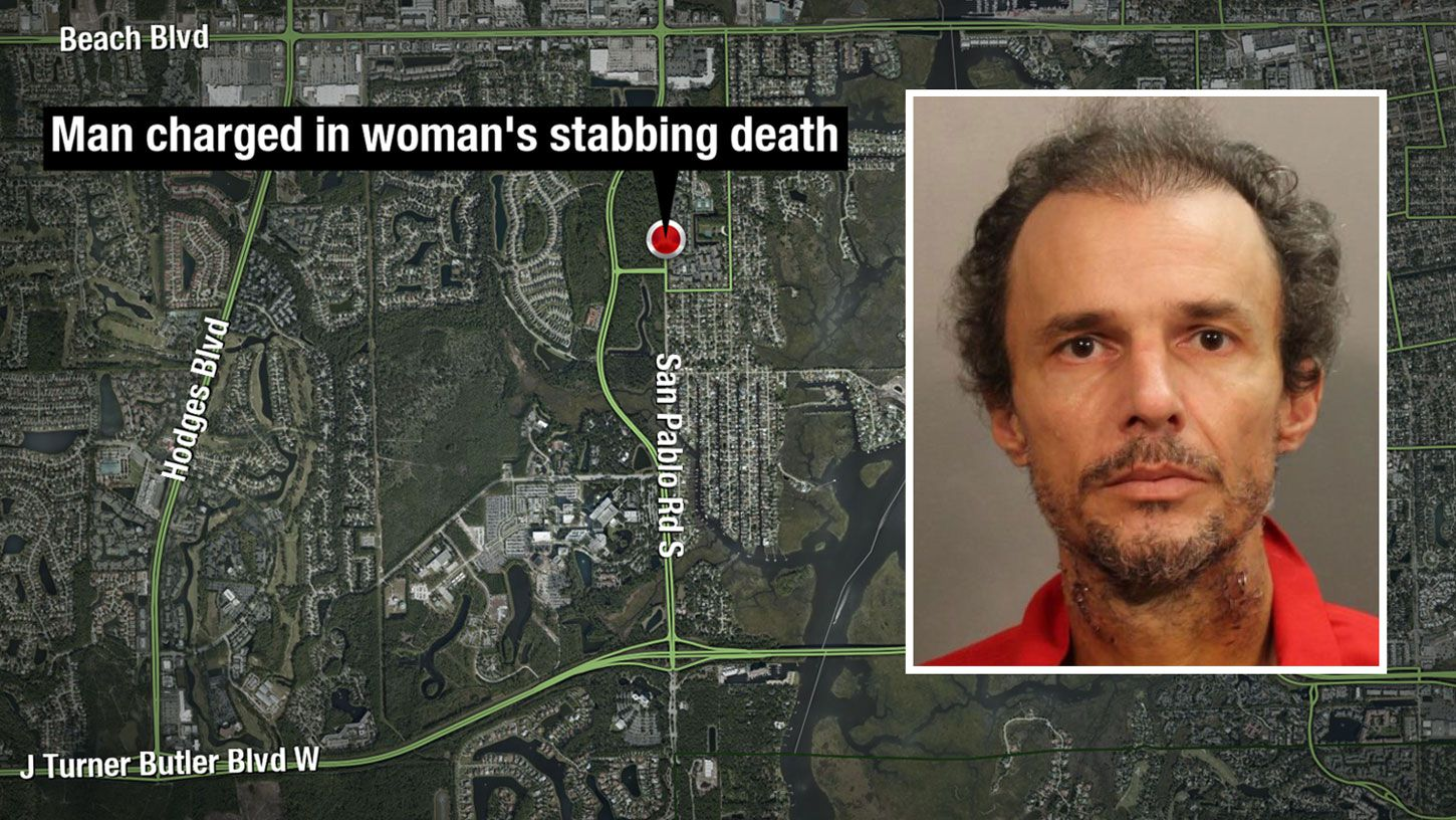 Man injured at scene of woman's stabbing death charged with her murder