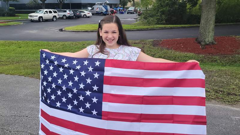 Flag Day exchange at WJXT