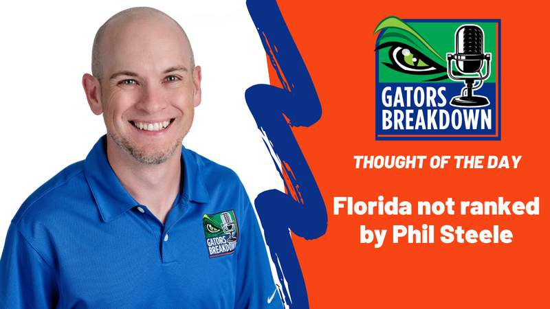 Phil Steele doesn't think the Gators are a top-25 team.