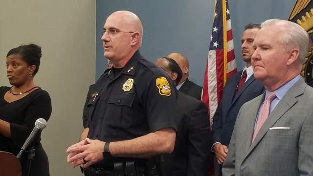 Chief Dugan announces arrest (Photo: Tampa Police Department via Twitter)