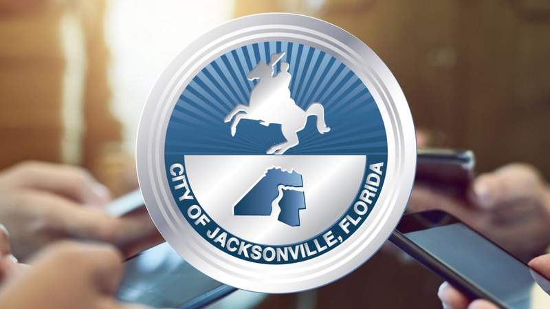 City of Jacksonville logo and phones