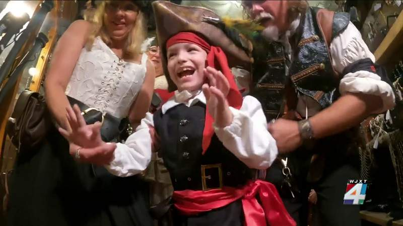 6-year-old with cerebral palsy surprised with special pirate-themed day