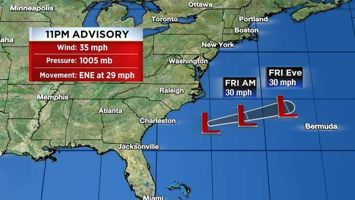 Tropics Forecast Cone at 5:05 Friday Morning, September 10th