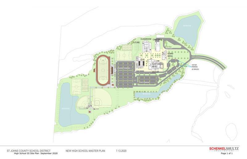 Plans for High School III in St. Johns County.