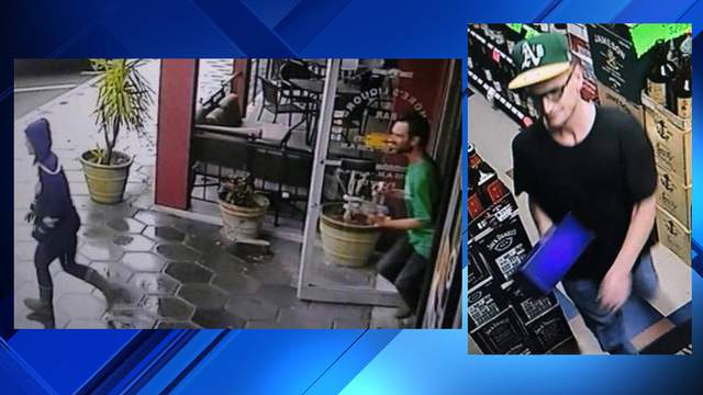 Surveillance footage provided by the Shores Liquors on St. Johns Avenue in Avondale