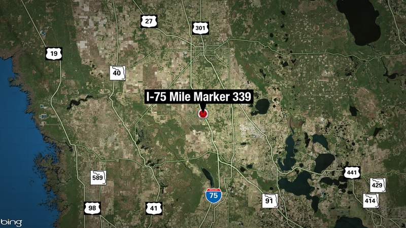 Mile Marker 339 is near the Ocala Weight Station along I75 in Marion County.