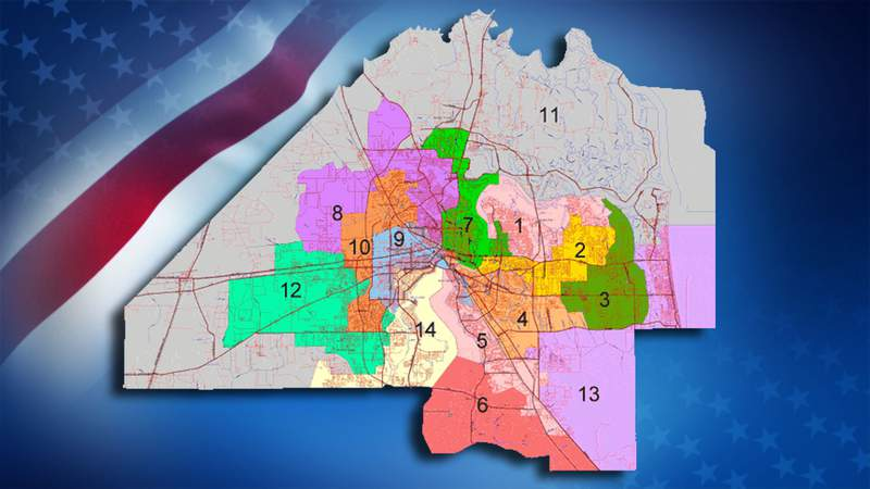 City Council District 4, on Jacksonville's Southside, is shown in light orange on map above.