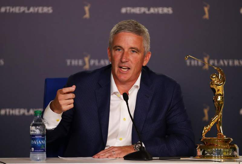 PGA TOUR Commissioner Jay Monahan. (Photo by Gregory Shamus/Getty Images)