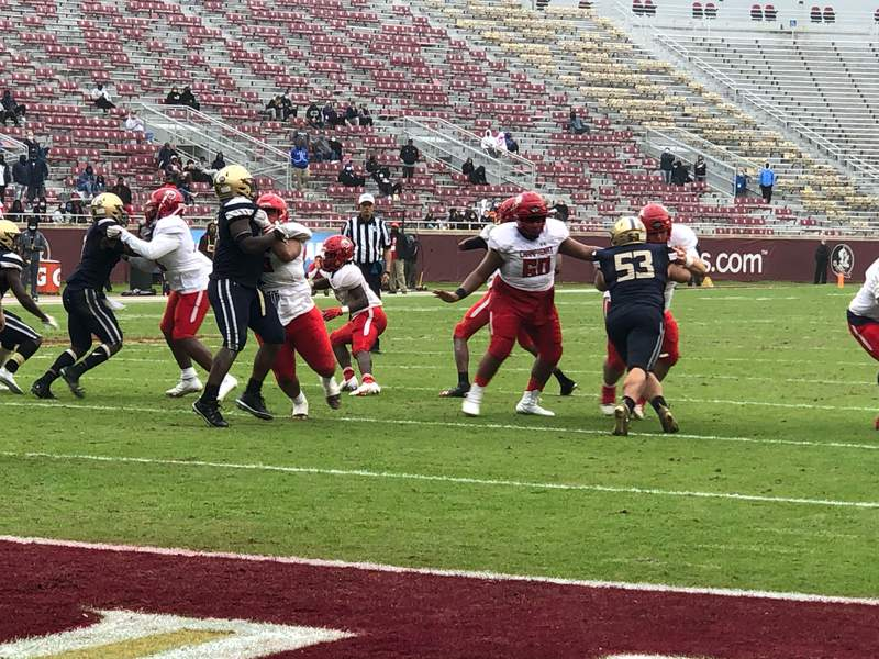 University Christian and Champagnat Catholic battle in Wednesday's Class 2A state championship game in Tallahassee.