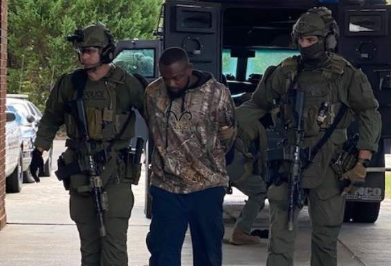 The SOG SWAT took Damien Ferguson into custody without incident.