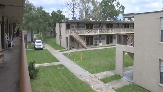 WKMG-TV photo of the apartment complex on Ligustrum Lane in Merritt Island.