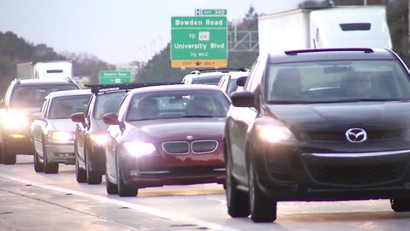 File photo traffic on I-95 in Jacksonville