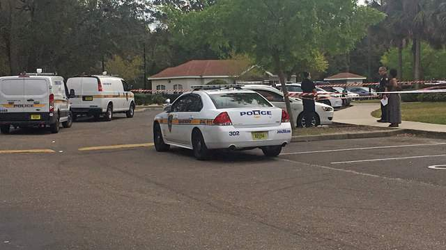A person was shot at the Madelyn Oaks Apartments Sunday, police say