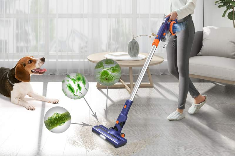 The ORFELD EV679 gives you the power of a traditional vacuum cleaner with much more convenience.