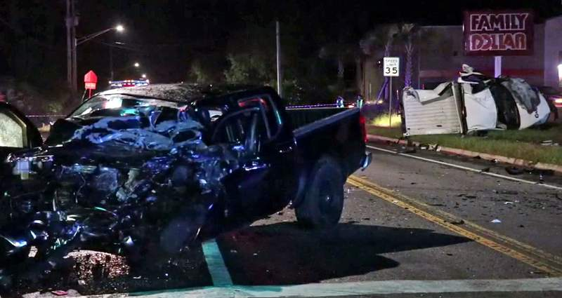 Five injured when two vehicles collided head-on early Saturday morning on Old Middleburg Road.