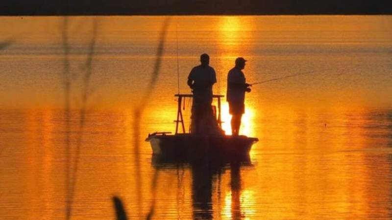 """Bill shared this photo on SnapJAX, adding """"Sunrise fishing. Does it get any better?"""""""