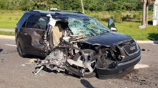 St. Johns County Fire-Rescue photo of crash on State Road 207.
