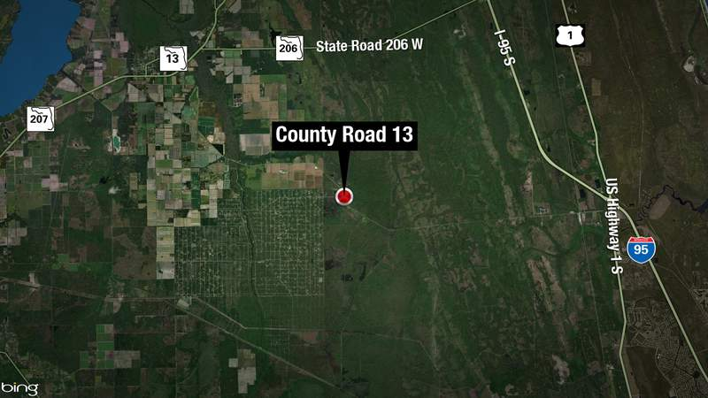 The St. Johns County Sheriff's Office said the crash happened about 11:20 a.m. Tuesday on County Road 13 near Flagler Estates Boulevard.