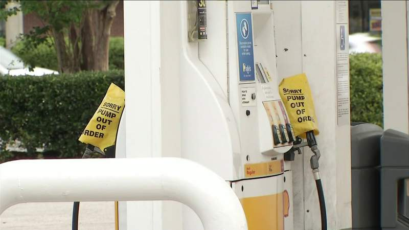 Long lines at gas stations as demand for fuel spikes