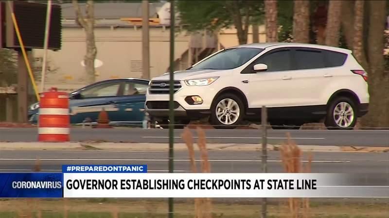 Florida governor establishing checkpoints at state line