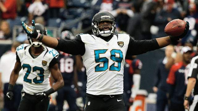 Ryan Davis is a rags-to-riches story who made the team as an undrafted rookie out of Bethune-Cookman. He played four seasons with the Jaguars, the best of which was 2014 when he set a career high with 6.5 sacks. He later played one season each in Dallas and Buffalo. (Photo by Scott Halleran/Getty Images)
