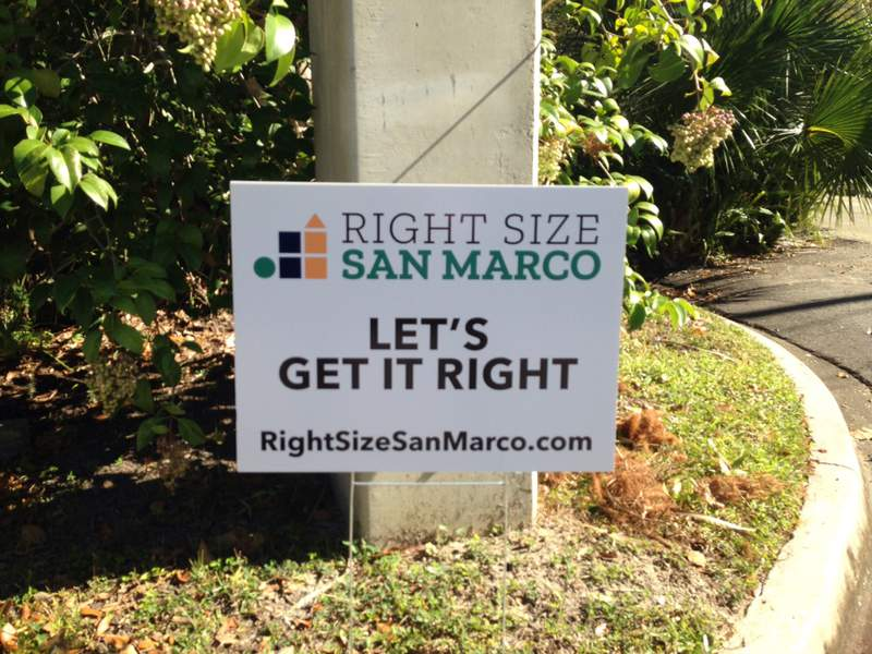 Right Size San Marco sign