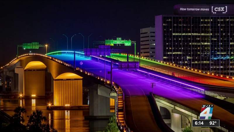 'I am not involved in bridge lighting,' DeSantis says when asked about pride lights