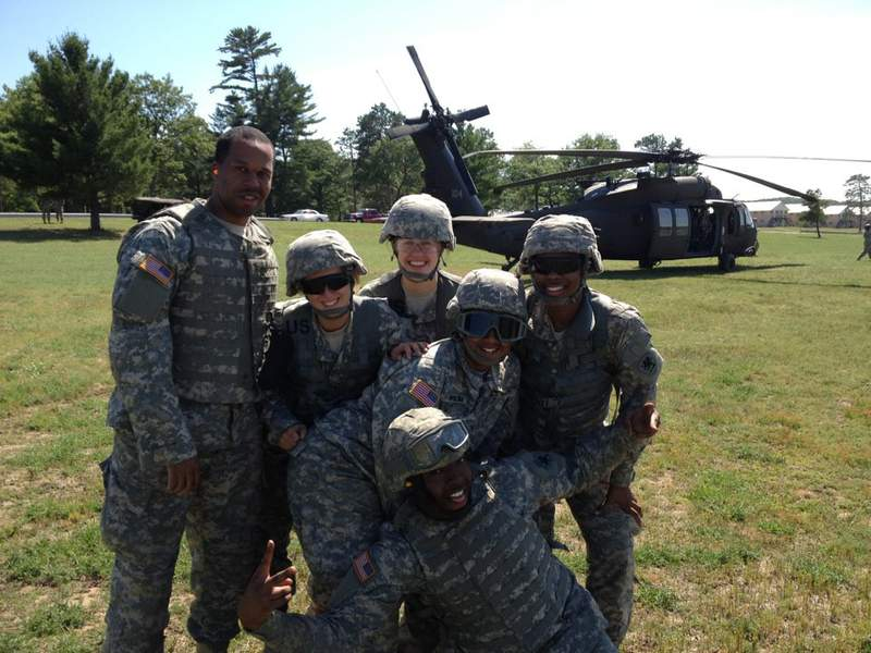 Maximillian Boudreaux is on the far left. He provides some insight regarding what it's really like to serve overseas.