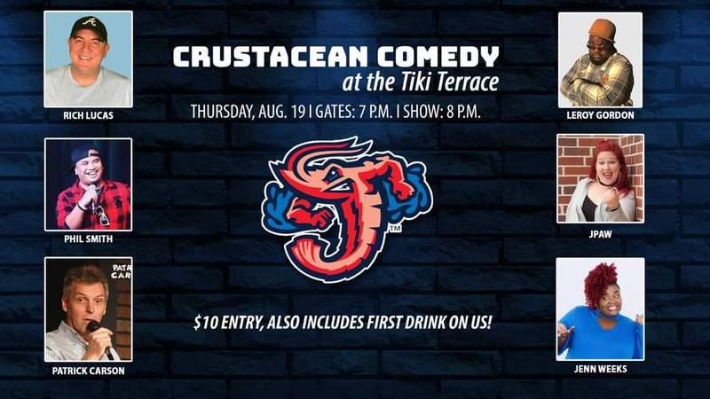Jumbo Shrimp to Host Crustacean Comedy astatine  the Budweiser Tiki Terrace connected  August 19