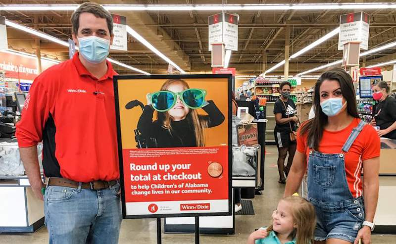 Donations were collected as customers shopping at Winn-Dixie, Harveys and other stores rounded up their purchase totals.
