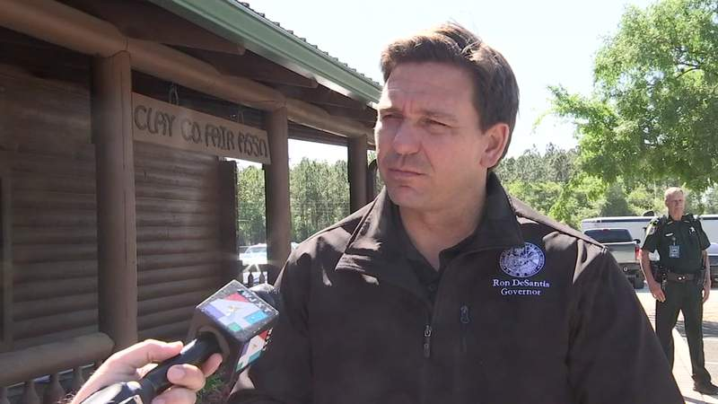 News4Jax caught up with Florida Gov. Ron DeSantis on Thursday at the Clay County Agricultural Fair.