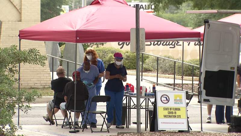 A one-day Johnson & Johnson COVID-19 vaccine event was held Sunday at the Webb Wesconnett Library on 103rd Street.