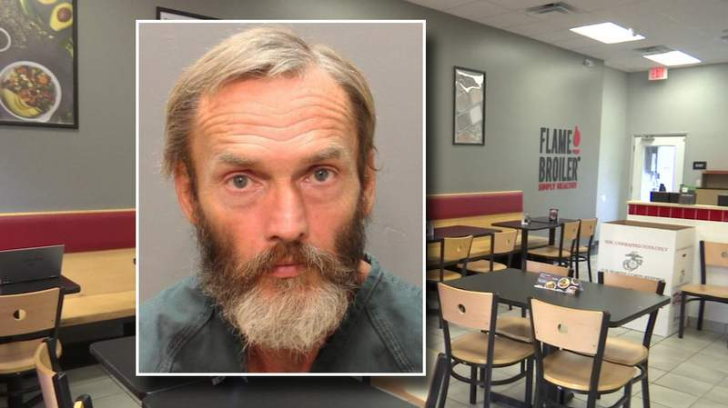 Booking photo of David Beckley, accused of setting fire to the Flame Broiler restaurant in San Marco.