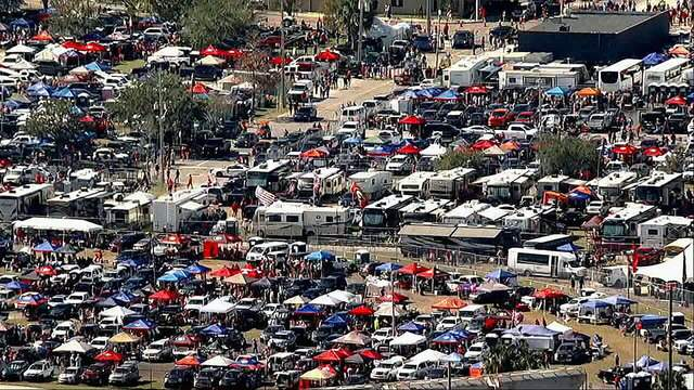 A SKY4 view of RV City prior to the Florida-Georgia game at TIAA Bank Field