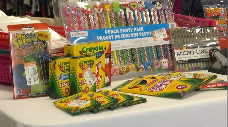 School supplies astatine  Goodwill