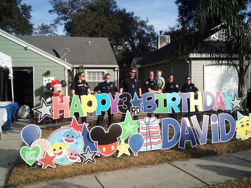 JFRD, JSO surprises local 3-year-old for his birthday (Photo: Stueyexmcfd)