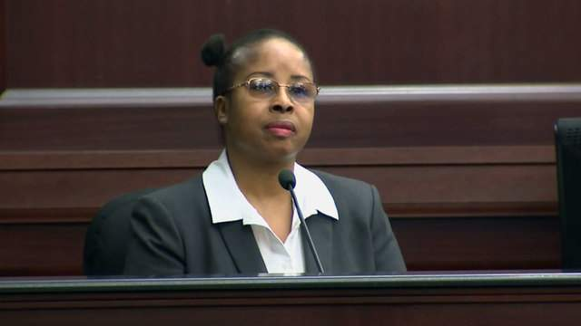 Gloria Williams takes the stand Friday at her sentencing hearing.