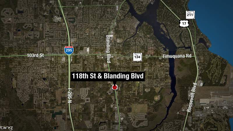 One person was injured in a crash on Blanding Boulevard and 118th Street Saturday night.