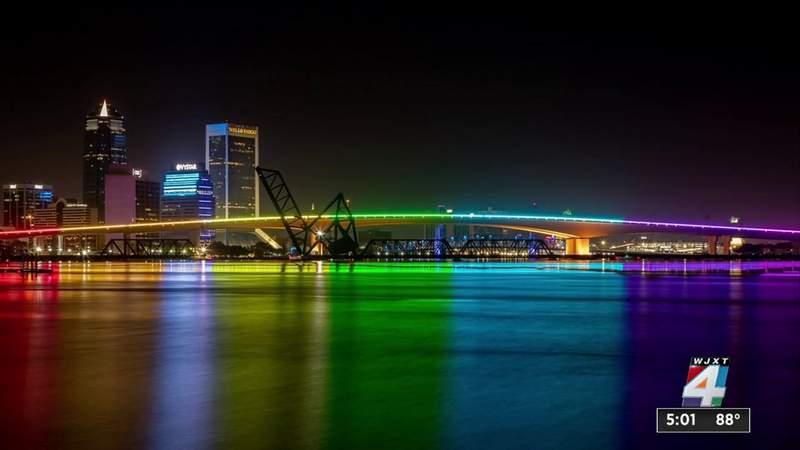 Acosta Bridge's rainbow lights will be back on tonight