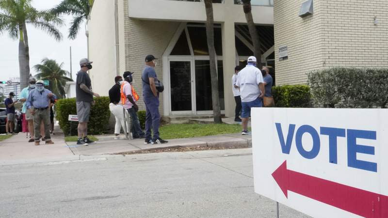 Florida began in-person early voting in most of the state a week ago.
