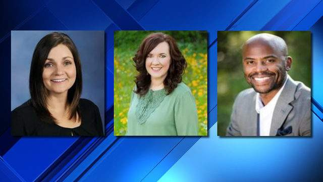 Becky Murphy, Mallory McConnell and Ivin Gunder (Photos: Clay County District Schools)