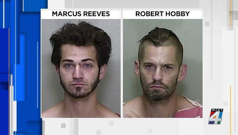 Mug shots of Robert Hobby and Marcus Reeves.